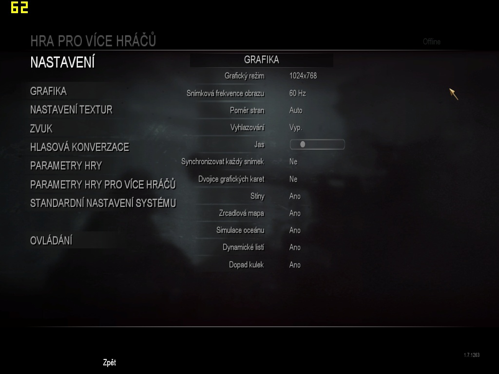 Call of Duty: World at War Settings