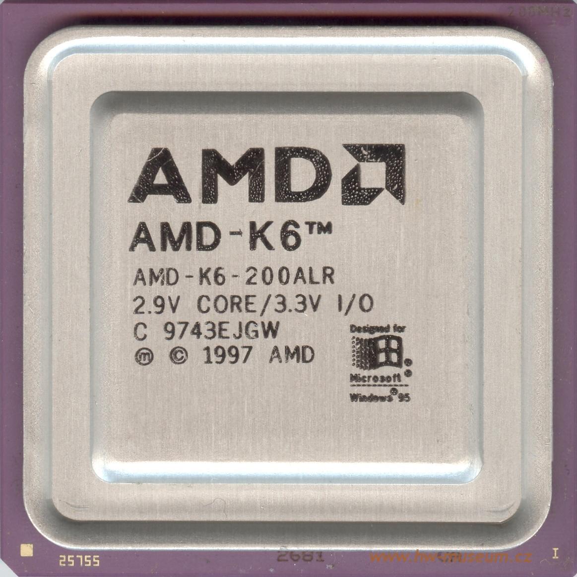AMD K6 200 - Hardware museum