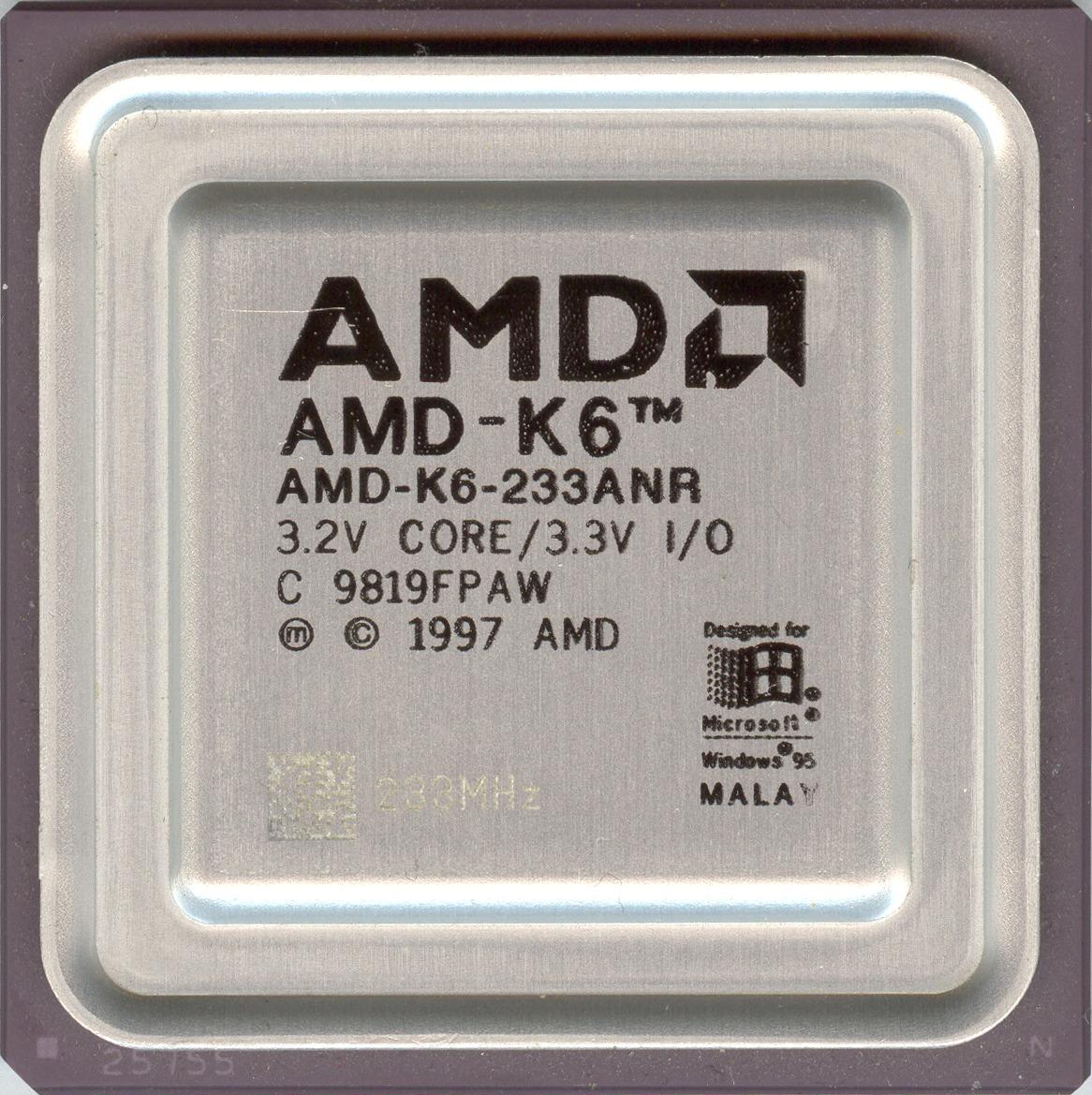 AMD K6 233 - Hardware museum