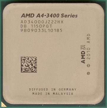 AMD A4-3400 (front side)