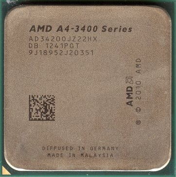 AMD A4-3420 (front side)