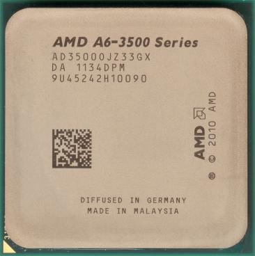 AMD A6-3500 (front side)