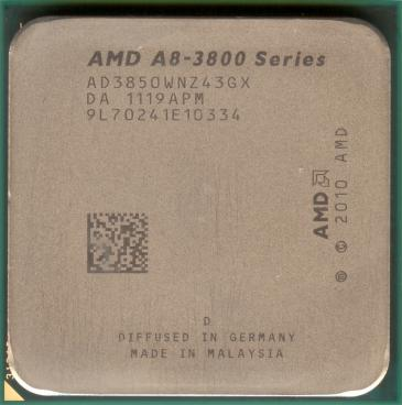 AMD A8-3850 (front side)