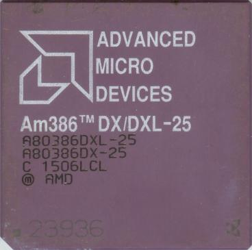 AMD Am386 DXL-25 (front side)