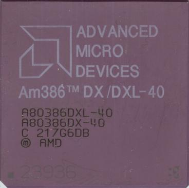 AMD Am386 DXL-40 (front side)