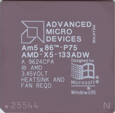 AMD Am5x86-P75 (front side)