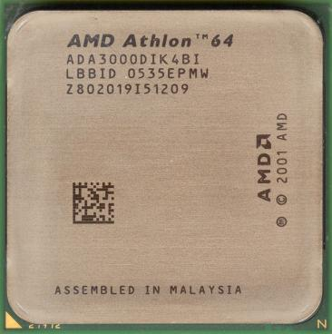 AMD Athlon 64 3000+ (Winchester) (front side)