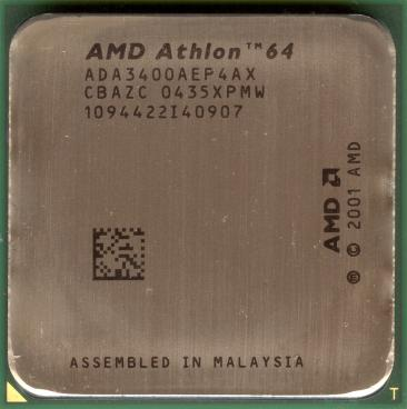 AMD Athlon 64 3400+ (NewCastle, s754) (front side)