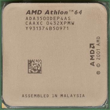 AMD Athlon 64 3500+ (ClawHammer) (front side)