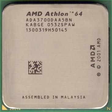 AMD Athlon 64 3700+ (San Diego) (front side)