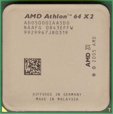 AMD Athlon 64 X2 5000+ (Brisbane) (front side)