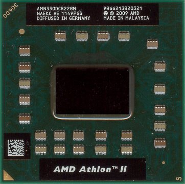 AMD Athlon II N330 (front side)