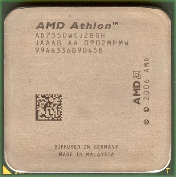 AMD Athlon X2 7550 (front side)