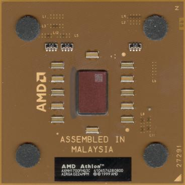 AMD Athlon XP-M 1700+ (front side)