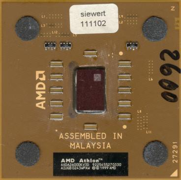 AMD Athlon XP 2600+ (Thoroughbred, FSB 333) (front side)