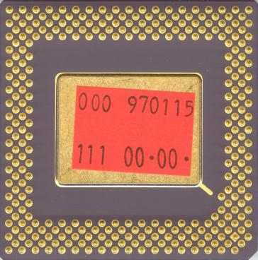 AMD K5 PR75 (back side)