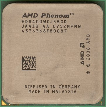 AMD Phenom X3 8400 (front side)