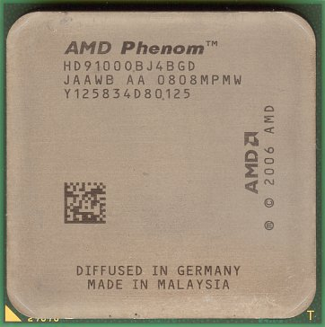 AMD Phenom X4 9100e (front side)