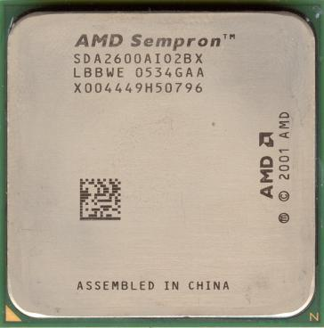 AMD Sempron 2600+ (front side)