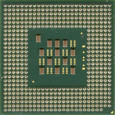 Intel Celeron 2.1 GHz (back side)