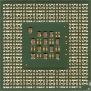 Intel Celeron 2.6 GHz (back side)