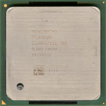 Intel Celeron 2.6 GHz (front side)