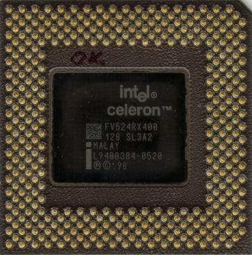 Intel Celeron 400 (back side)