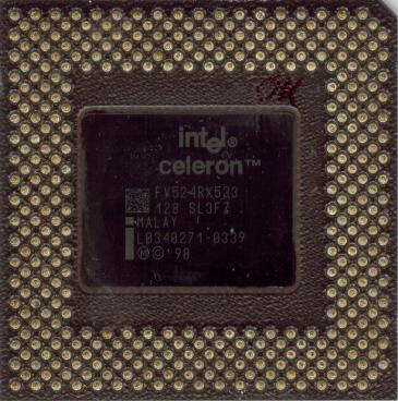 Intel Celeron 533 (back side)