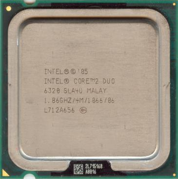 Intel Core 2 Duo E6320 (front side)