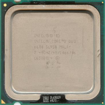 Intel Core 2 Duo E6600 (front side)