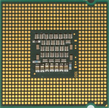 Intel Core 2 Duo E6750 (back side)