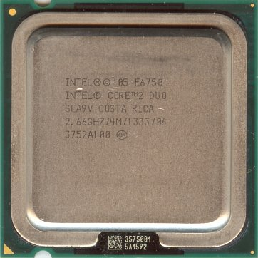 Intel Core 2 Duo E6750 (front side)