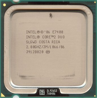 Intel Core 2 Duo E7400 (front side)