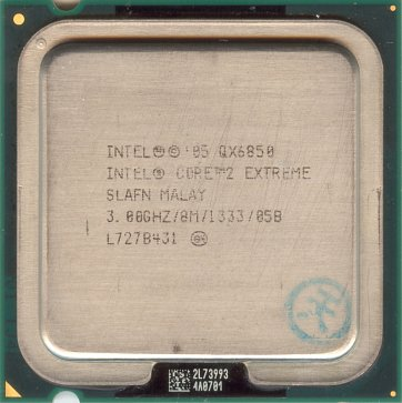 Intel Core 2 Extreme QX6850 (front side)