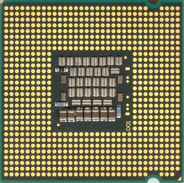 Intel Core 2 Extreme X6800 (back side)