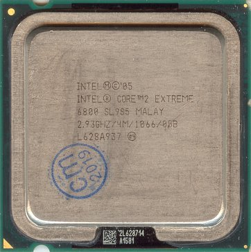 Intel Core 2 Extreme X6800 (front side)