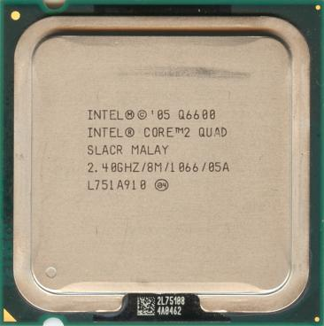 Intel Core 2 Quad Q6600 (front side)