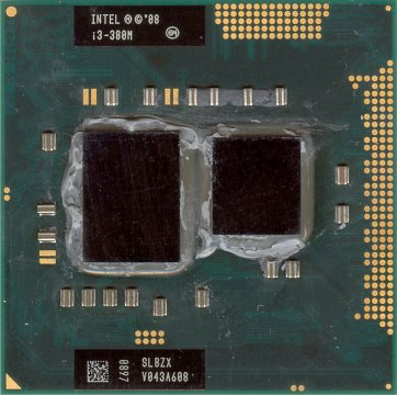Intel Core i3-380M (front side)
