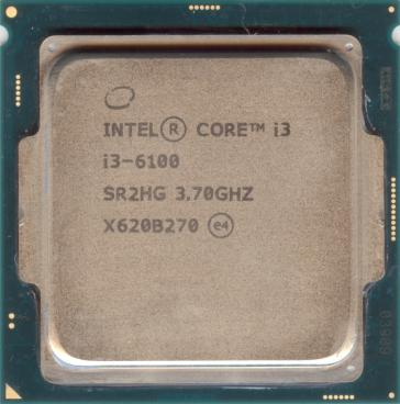 Intel Core i3-6100 (front side)