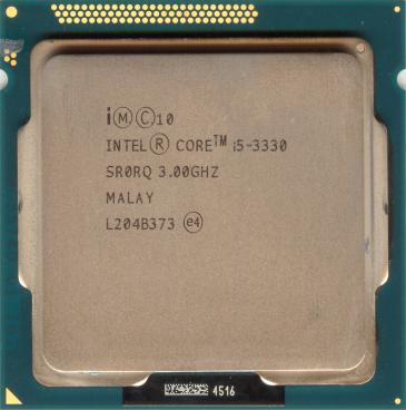 Intel Core i5-3330 (front side)