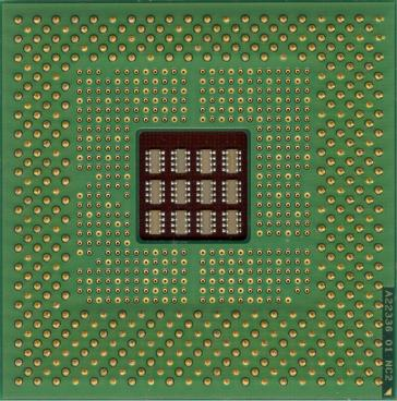Intel Pentium 4 1.3 GHz (socket 423) (back side)