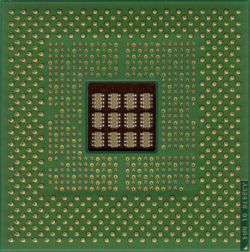 Intel Pentium 4 1.4 GHz (socket 423) (back side)