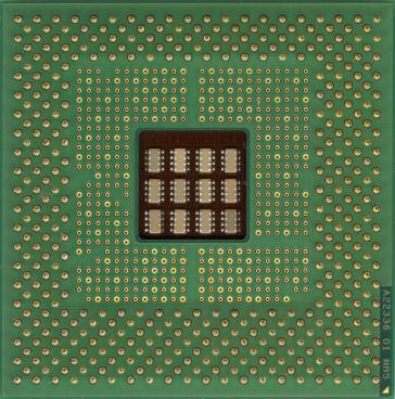 Intel Pentium 4 1.5 GHz (socket 423) (back side)
