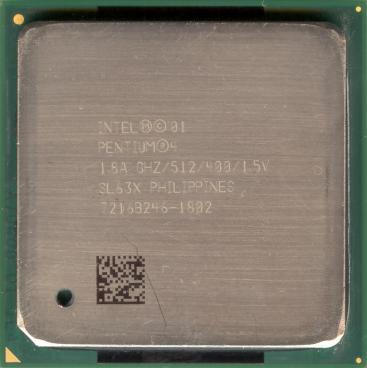 Intel Pentium 4 1.8 GHz Northwood (front side)