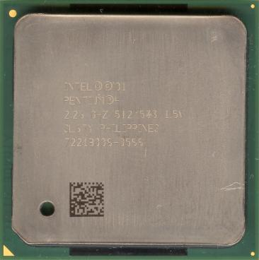 Intel Pentium 4 2.26 GHz Northwood (front side)