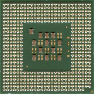Intel Pentium 4 2.4 GHz Northwood (HT) (back side)