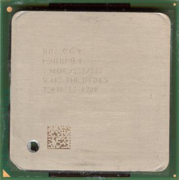 Intel Pentium 4 2.4 GHz Northwood (front side)