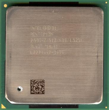 Intel Pentium 4 2.5 GHz Northwood (front side)