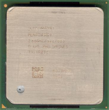 Intel Pentium 4 2.66 GHz Northwood (front side)