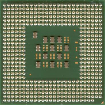 Intel Pentium 4 2.6 GHz Northwood (HT) (back side)